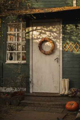 The front door of a homely looking house