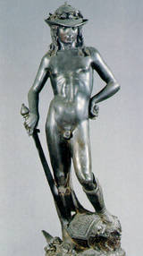Sculpture of David in Bronze by Donatello