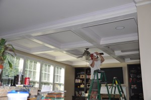 Coffered ceilings are a great upgrade!