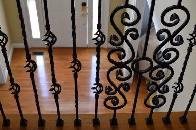 scrolled designed balusters rva