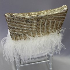 Black Glitter Chair Covers Diy Snowman Gatsby Gold Cap With Plume The Finishing Touch