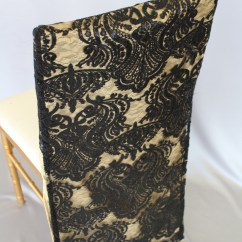 Gold Sequin Chair Covers Cover Hire East London Damask Black Over Tuxedo Back The Finishing