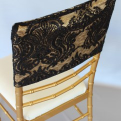 Gold Sequin Chair Covers Bedroom On Sale Damask Black Cap The Finishing Touch