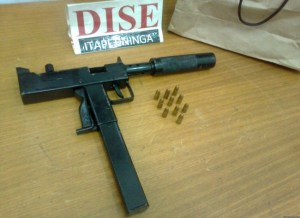 Common illicitly homemade submachine guns in Brazil The