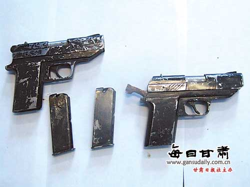 Homemade semiautomatic pistols illegally produced in