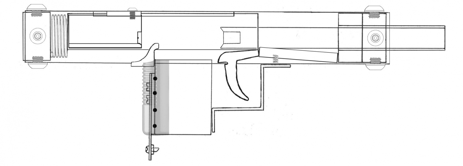 Simple and compact low-cost DIY submachine gun prototype