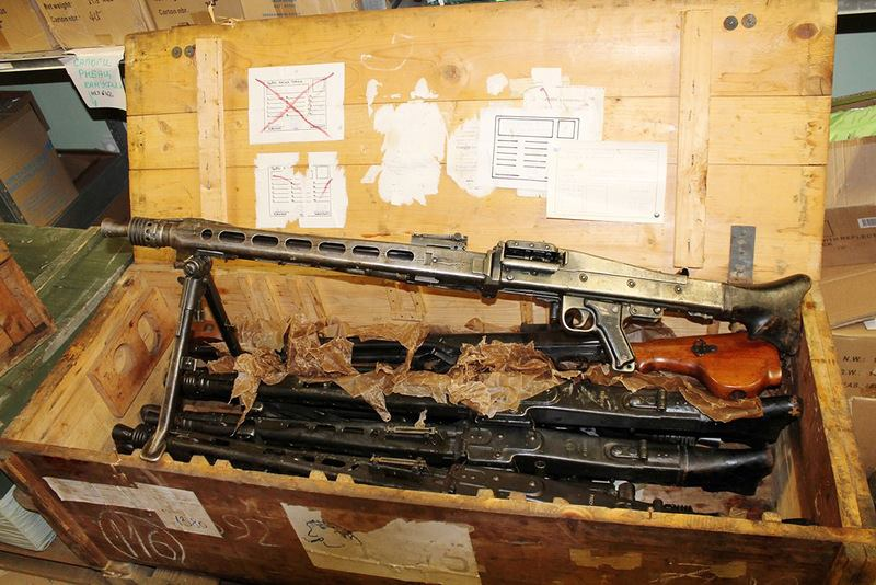 Russian Warehouse Find Crates Of Machine Guns The