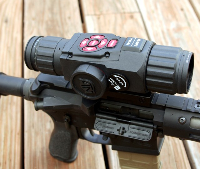 Atn X Sight Hd Atop My Precision Ar 15 Surprisingly Lightweight And Not As Bulky As Similar Products From This Angle You Can See The Housings For The