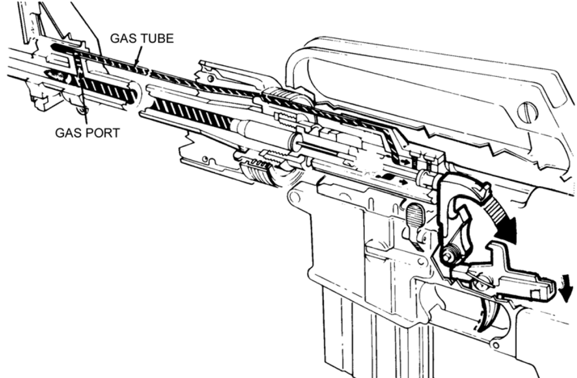 ar 15 diagram for m16 ar15 type firearm