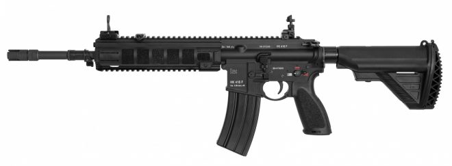 The HK416F variant adopted by the French Army. Note the specialized bayonet lug apparently designed for launching rifle grenades. Image source: sofrep.com