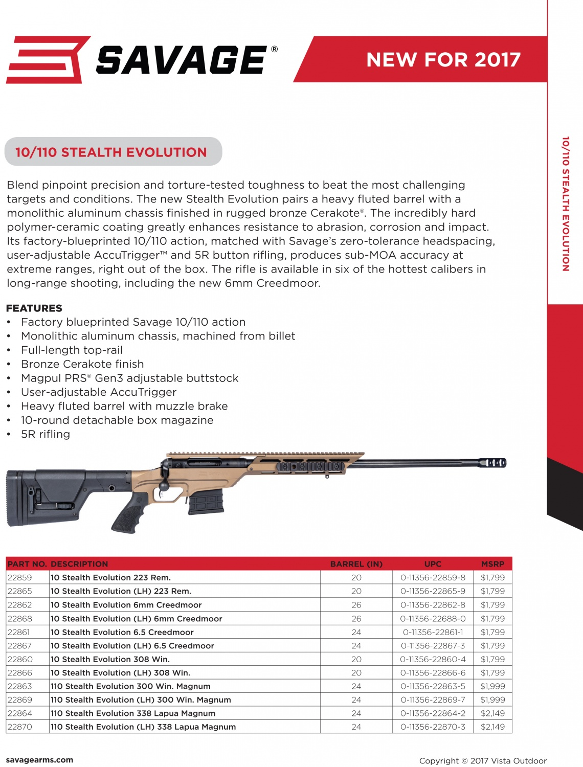savage model 110 parts diagram frontal rainfall arms upgrades the 10 once more to become stealth evolution