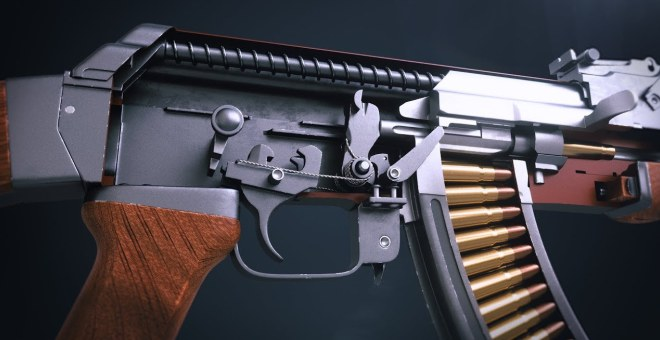 ar 15 lower diagram partial mesh topology 3d animation showing how the ak-47 mechanism works - firearm blogthe blog