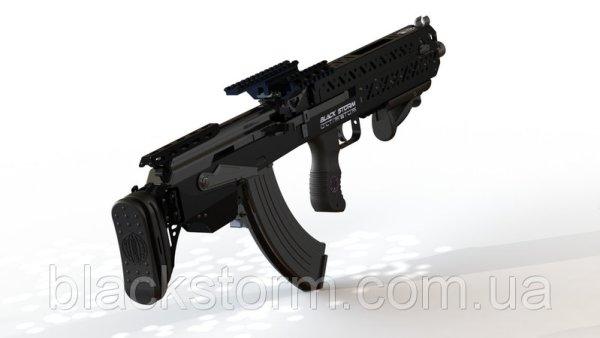 Ukrainian Black Storm BS-4 Bullpup Conversion Kit for AK Rifles (3)