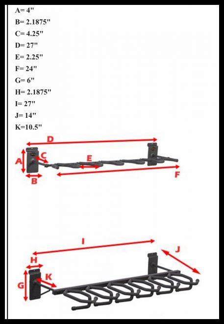 hold up displays vertical 6 gun rack