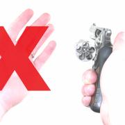 One-handed revolver drills