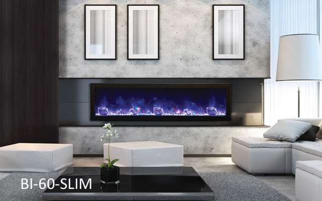 Amantii Electric Fireplace  Panorama Series BI60SLIM