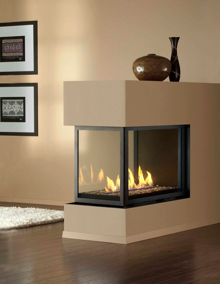 Montigo Gas Fireplace HSeries Peninsula  HP38DFPFC and HL38DFPFC Direct Vent Multisided