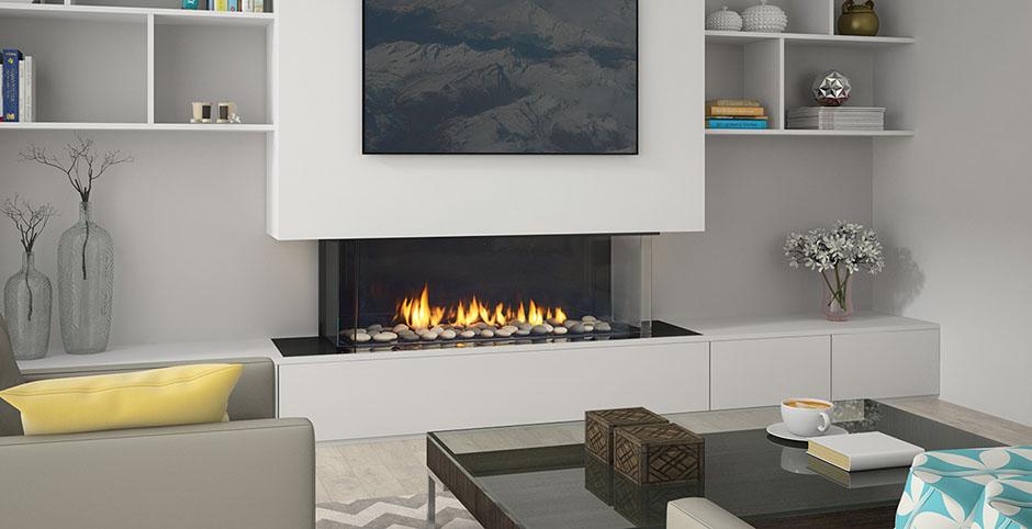 Regency Gas Fireplace City Series San Francisco Bay three sided Gas Fireplace CB40E  The