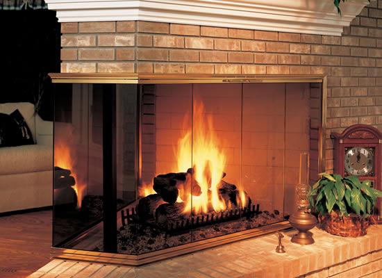 Buy Fireplace Doors Online Corner Multi Sided Fireplaces
