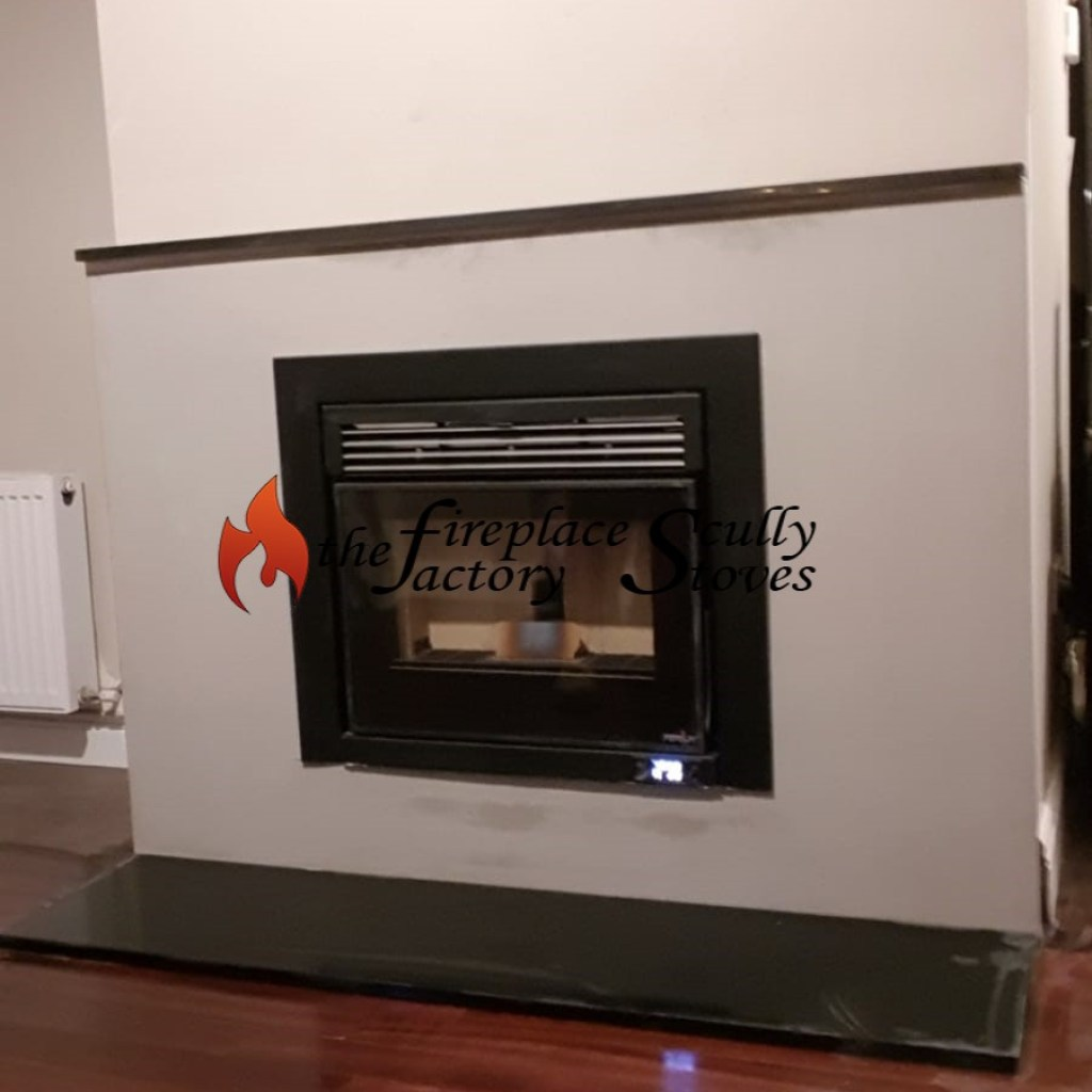Pellet Insert Fire in an extended chimney breast
