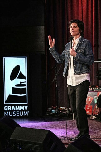 LOS ANGELES, CA - FEBRUARY 16: Comedian Tig Notaro performs at AUDIBLE IMPACT: Music & Activism Hosted By Tig Notaro at The GRAMMY Museum on February 16, 2016 in Los Angeles, California. (Photo by Rebecca Sapp/WireImage)