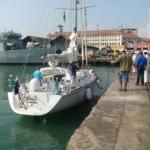 Mhadei in Colombo for India's first solo circumnavigator Dilip Donde