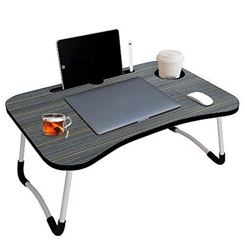 COLLABRAINS ENTERPRISE Smart Multi-Purpose Laptop Table with Dock Stand/Study Table/Bed Table/Foldable and Portable/Ergonomic & Rounded Edges/Non-Slip Legs (GREY)
