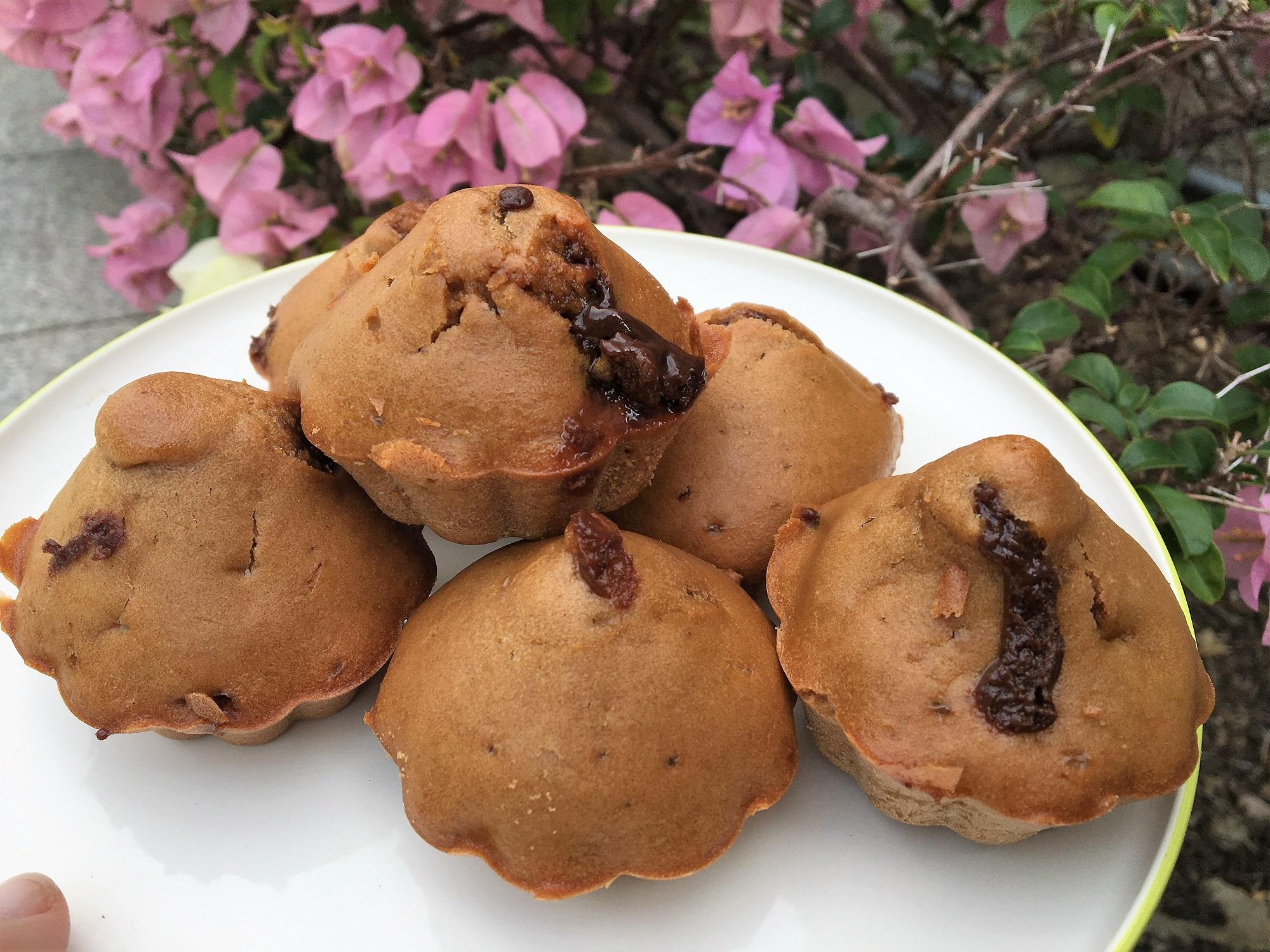 Muffins vanilla Coeur chocolat fondant thefitnesstheory