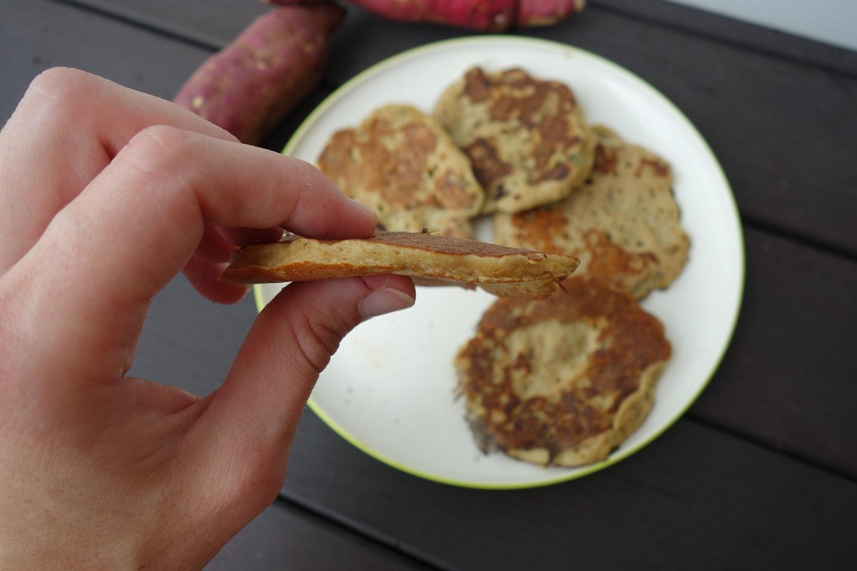 pancakes patate douce light