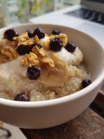 quinoa sucré banane myrtille céréales