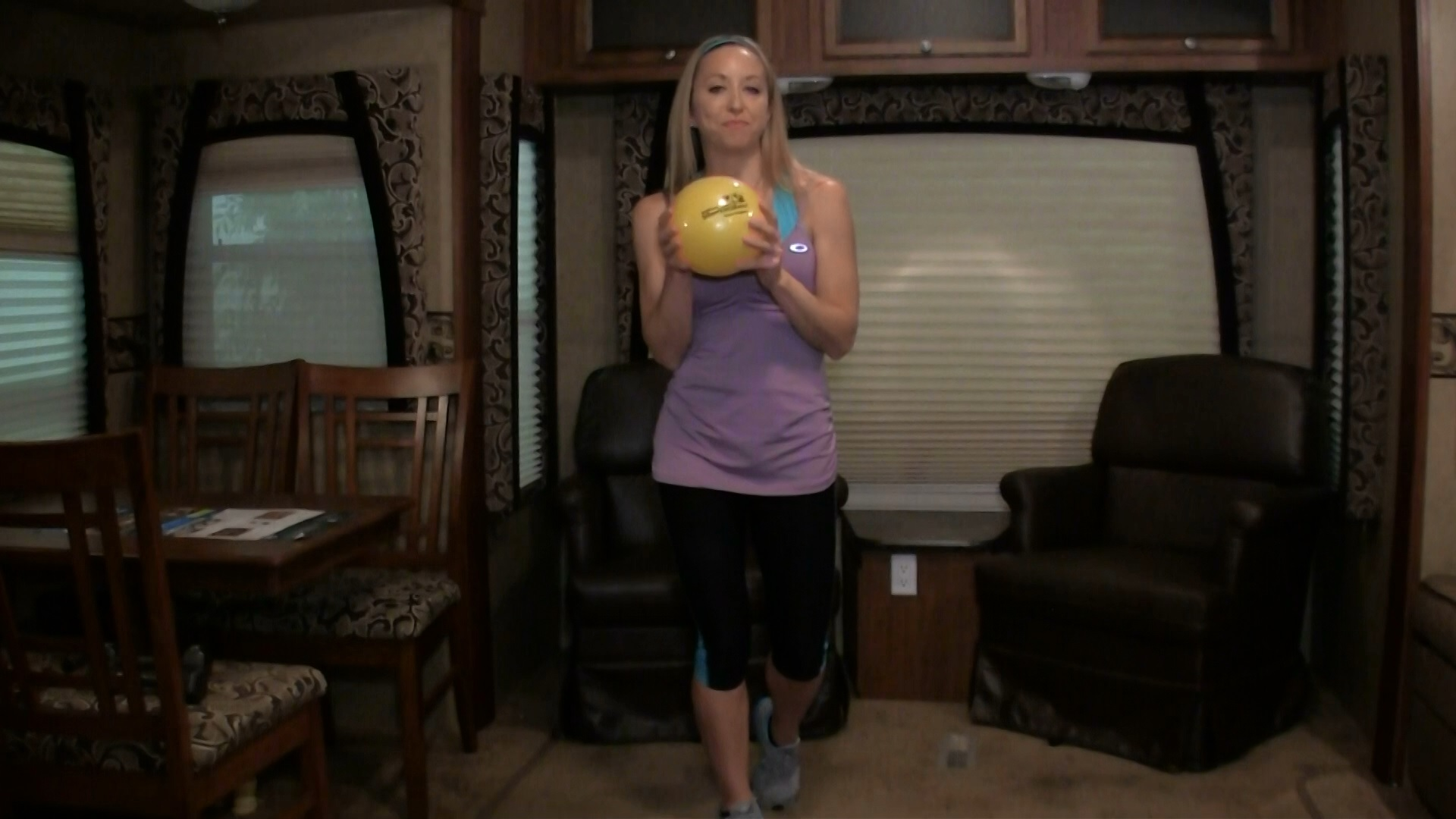 Fitness in your RV  Ball Workout