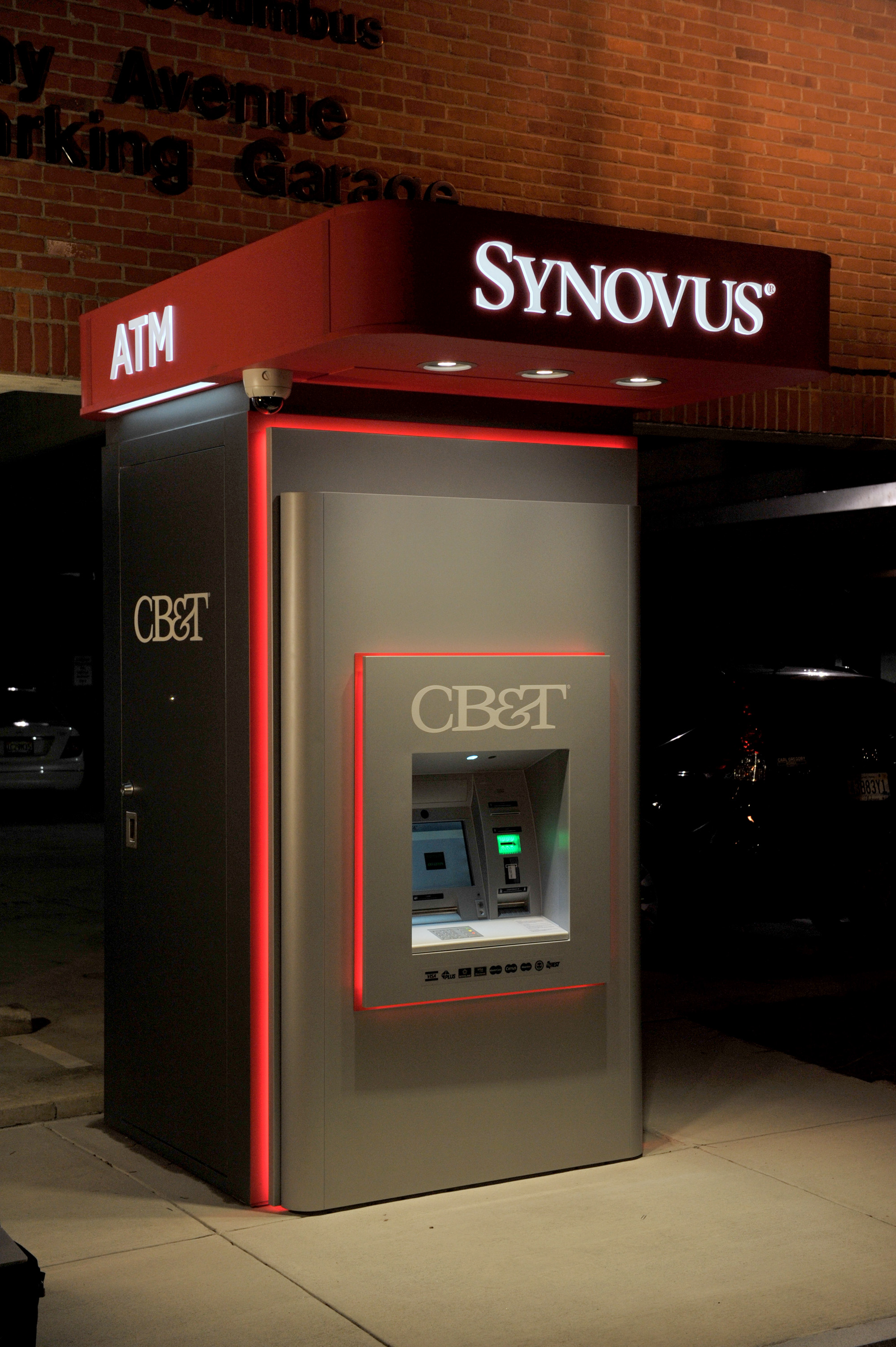 Single Atm Kiosk Building The Fitts Company Branch