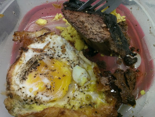 liver and egg lunch