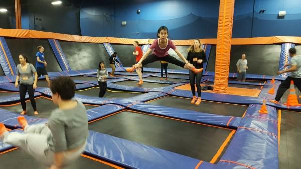skyzone split jump trampoline