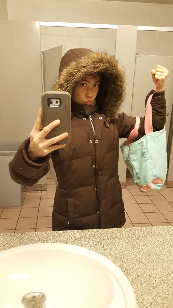 selfie post workout