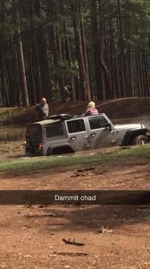 dammit chad, jeeping and mud, jeep in mud, muddy jeep