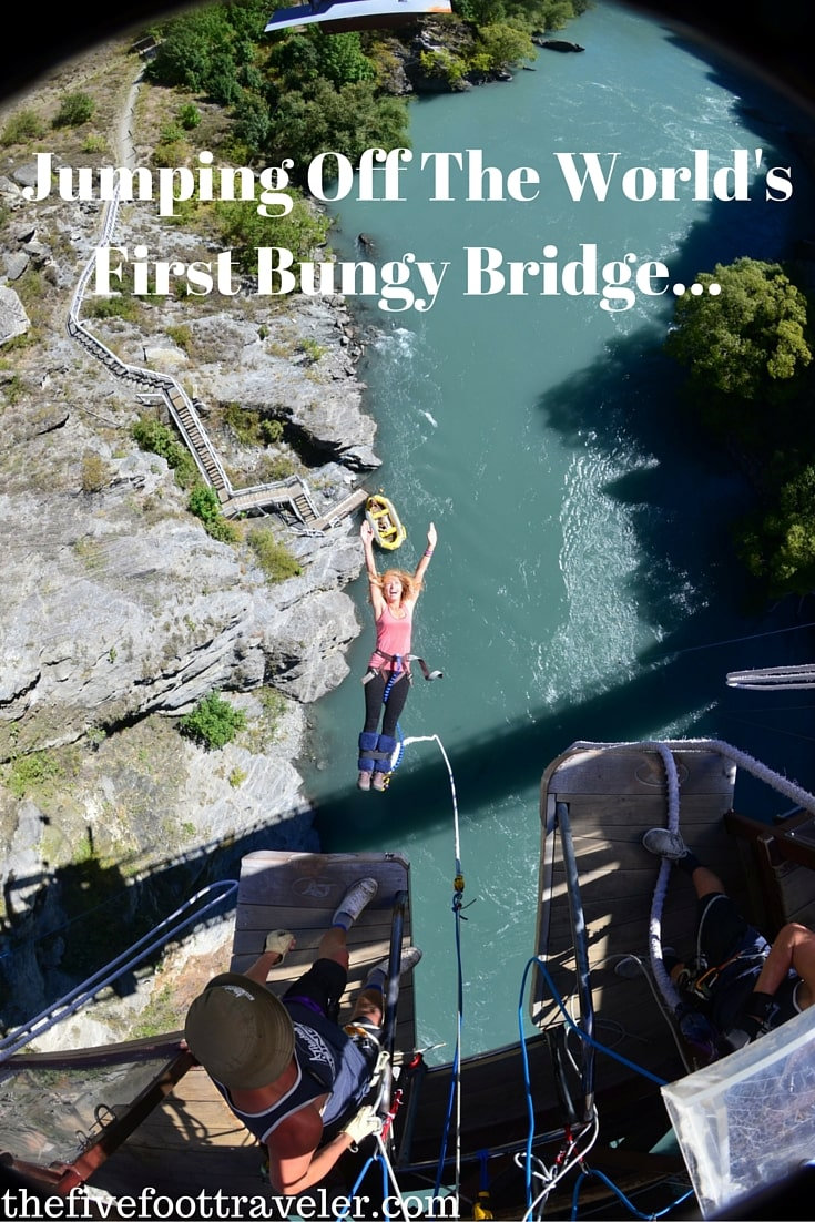 The World's First Commercial Bungy Jump? Yes please! Located in Queenstown, New Zealand, AJ Hackett's Bungy Jump must not be missed! Read more at www.thefivefoottraveler.com