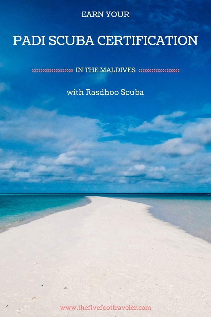 Looking to dive in some of the clearest waters in the world? Head to Rasdhoo Scuba in the Maldives! Not only is it budget-friendly, but there's an abundance of marine life and the staff will astound you! Whether you're an advanced diver or looking to complete your PADI certification, look no further than Rasdhoo Scuba! Read more about our experience at www.thefivefoottraveler.com