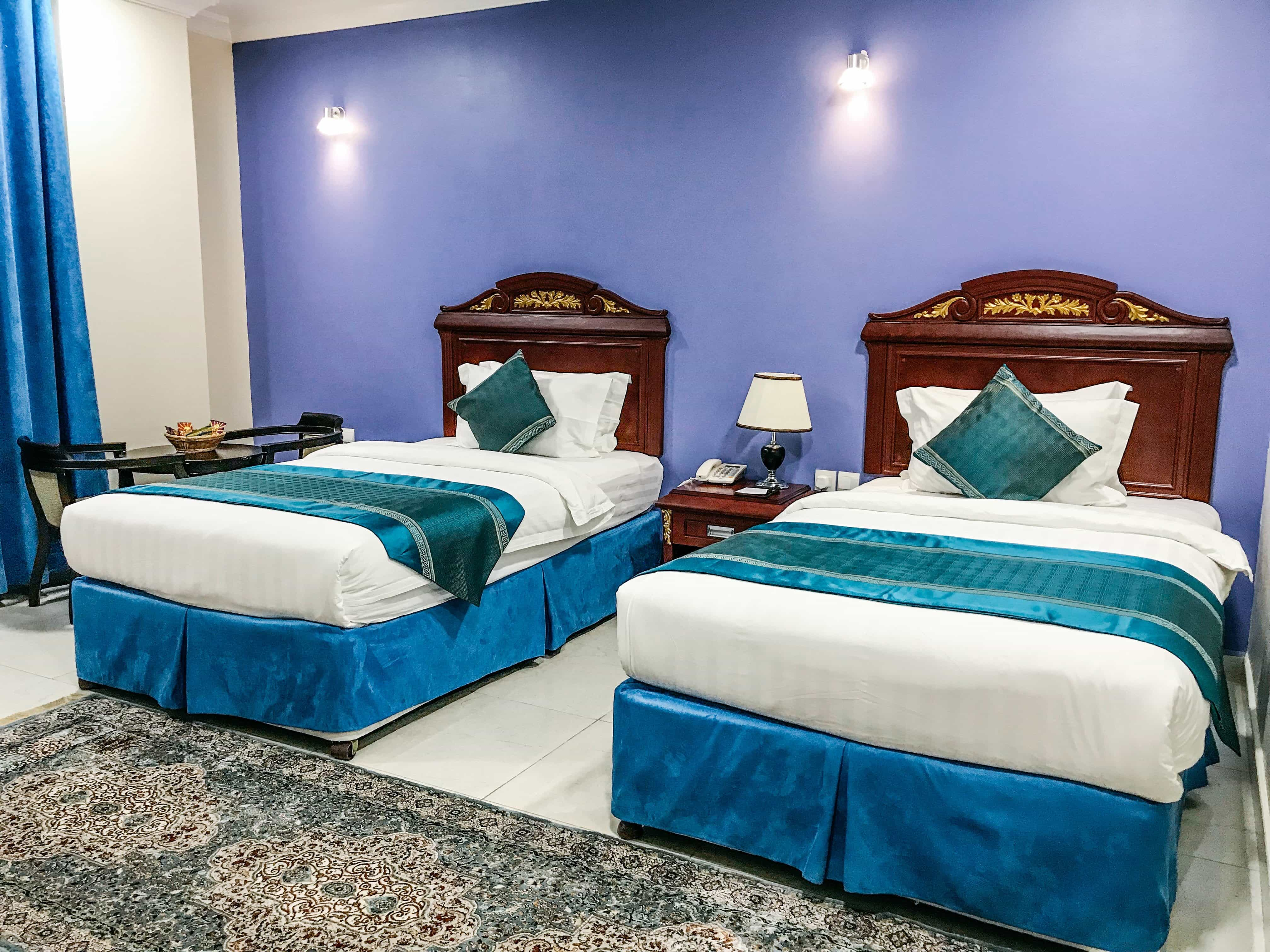 hotel room in oman with two beds