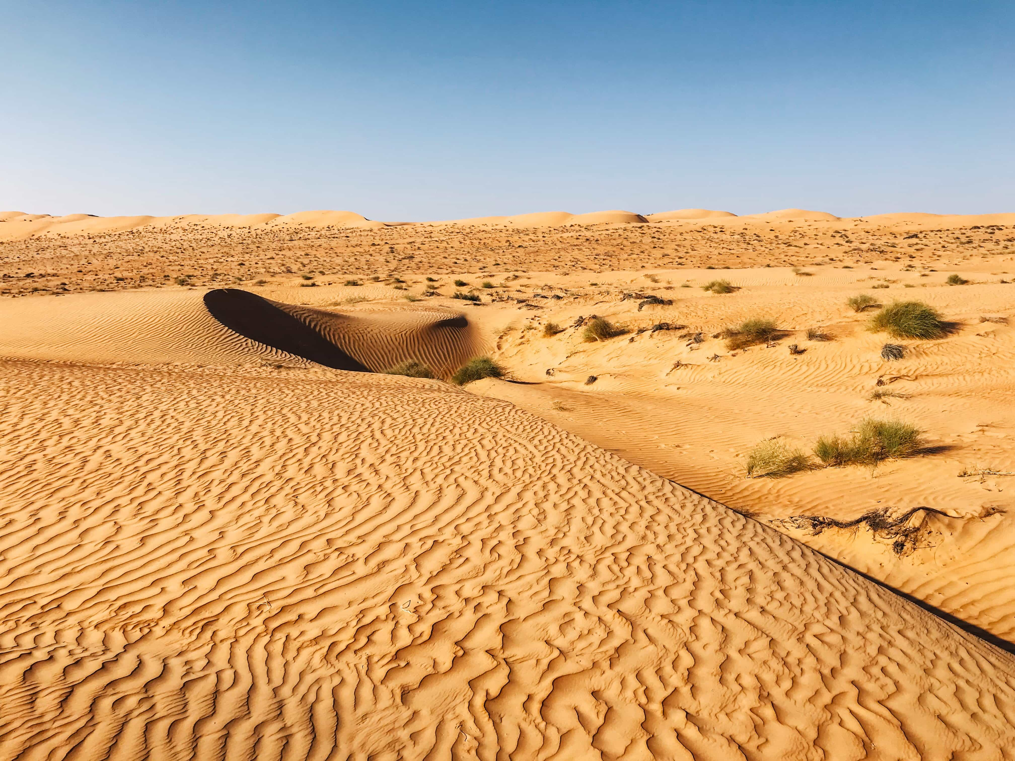 beautiful rolling sand dunes - places to visit in oman