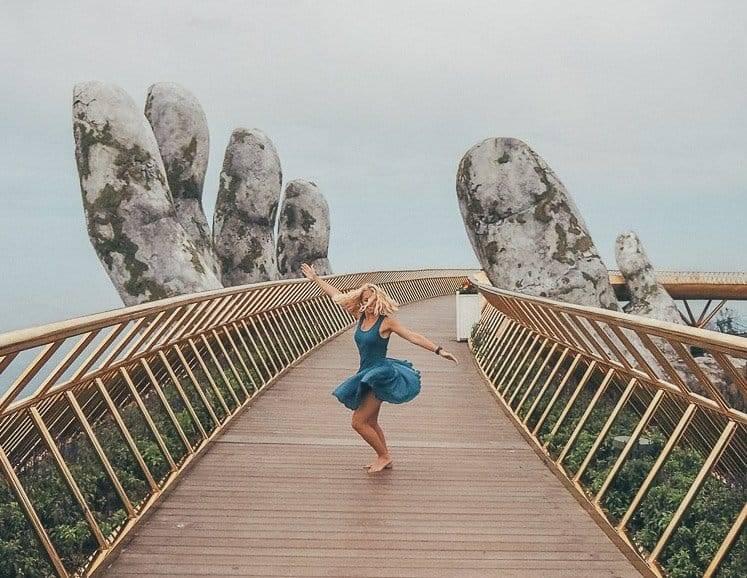 Vietnam's Golden Bridge at Ba Na Hills