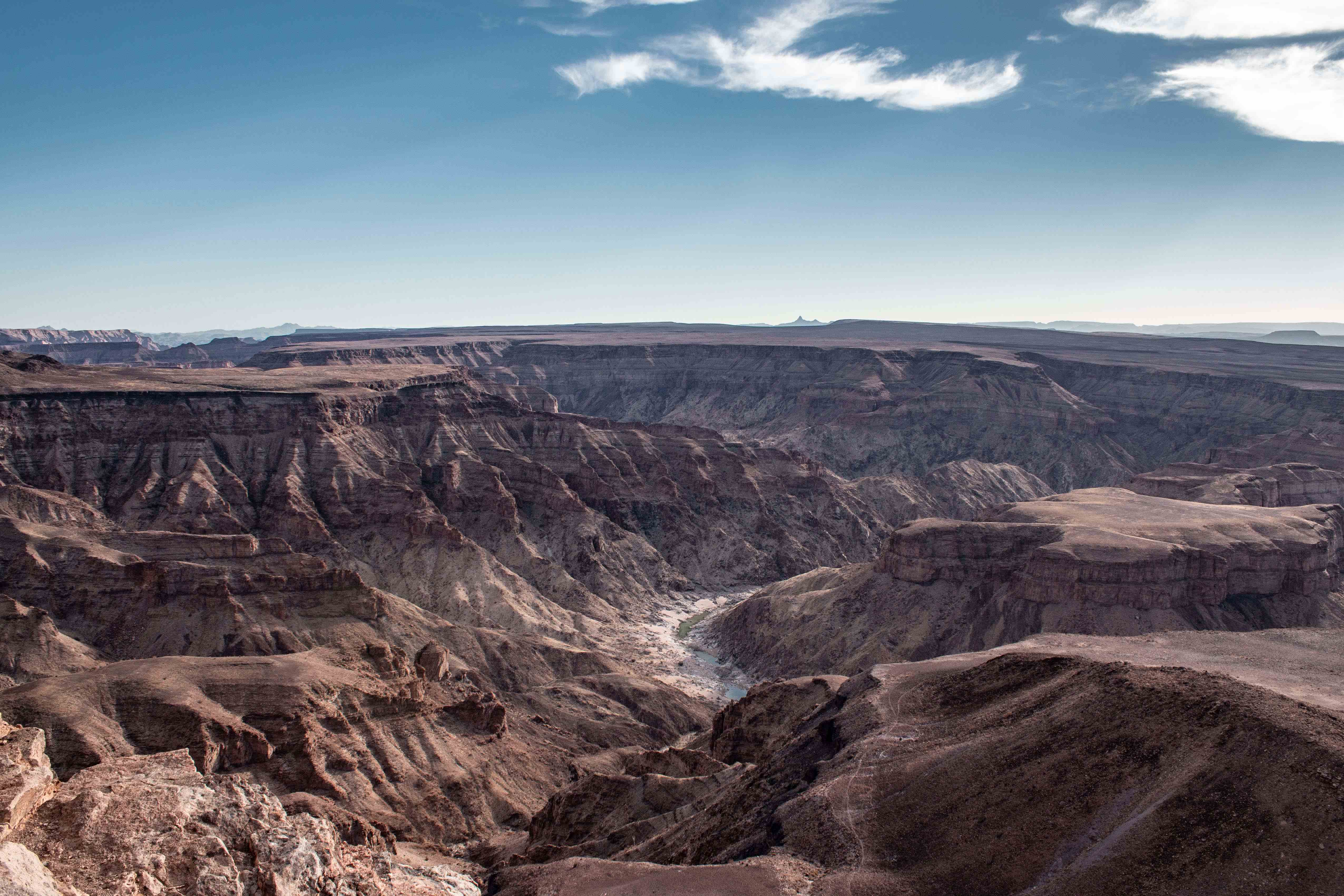 similar to the grand canyon, fish river canyon is the second largest canyon in the world. picture taken around dusk.