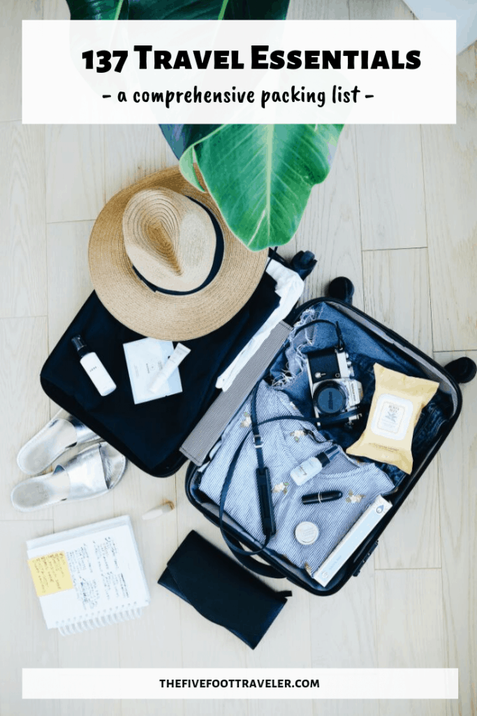travel essentials packing list