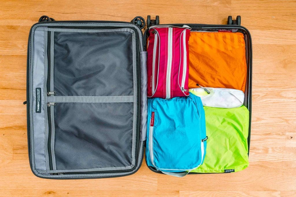 packing cubes and other travel essentials