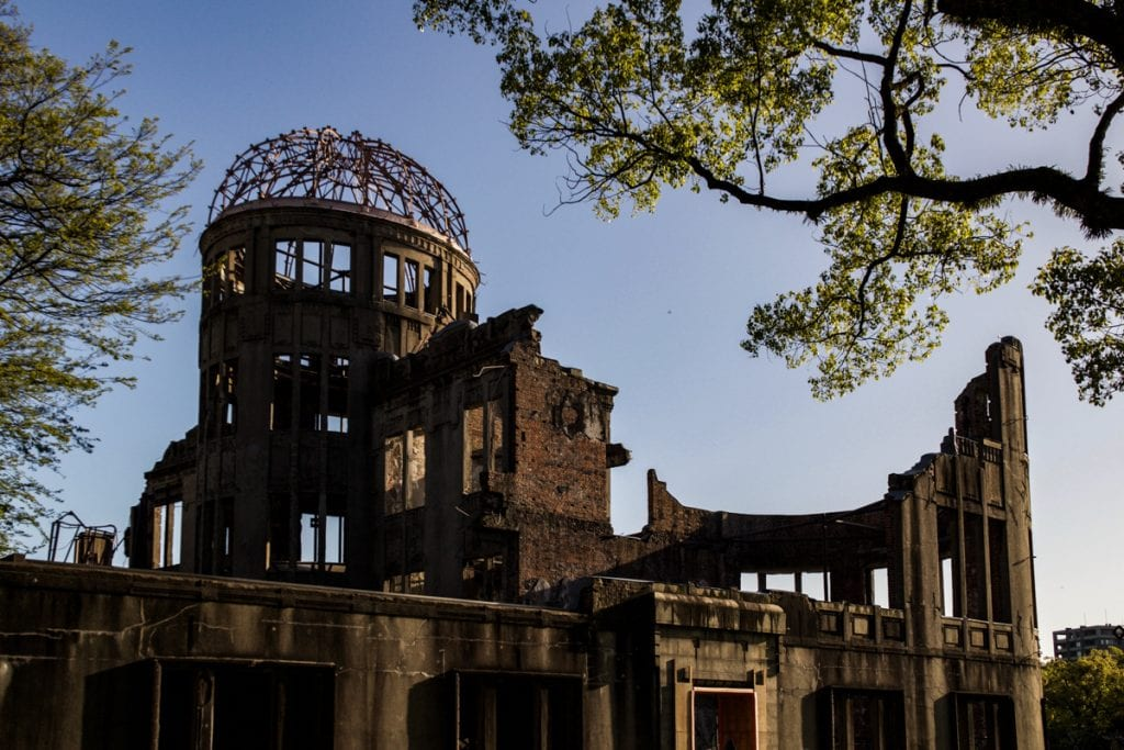 the remains of where the atomic bomb hit in hiroshima - places to visit in japan
