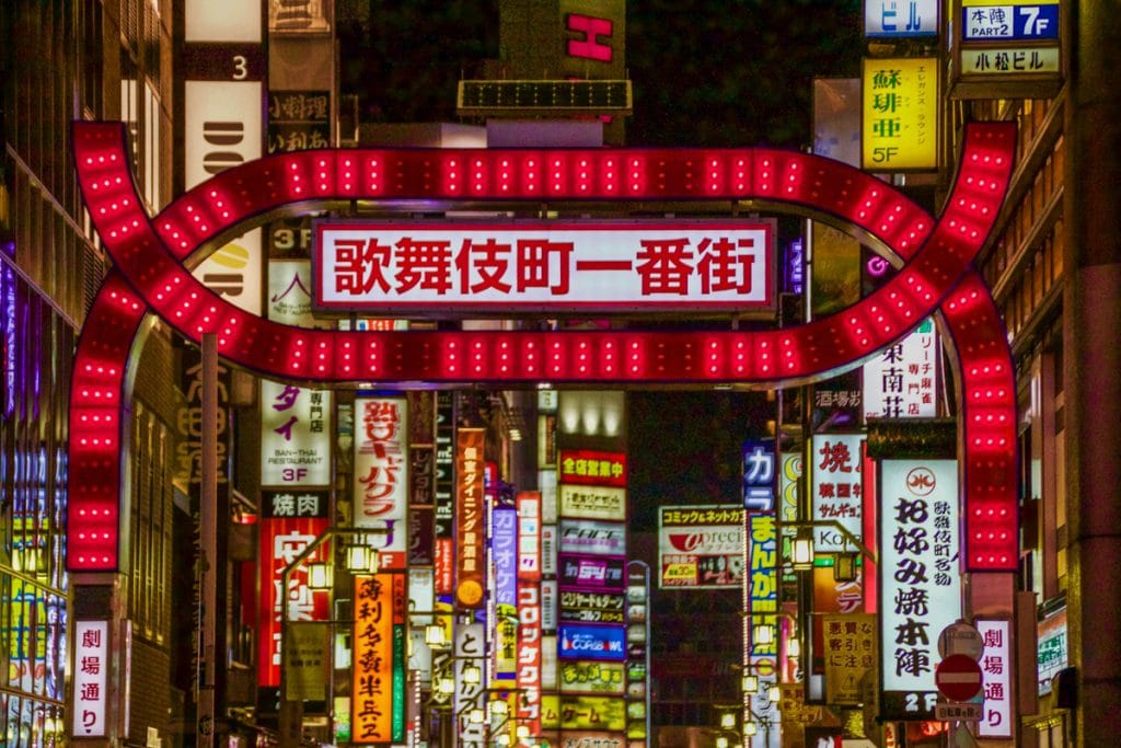 neon lights of tokyo - places to visit in japan