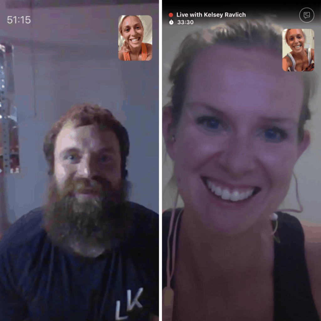 on video in real time with livekick fitness - a personal trainer and a yoga instructor