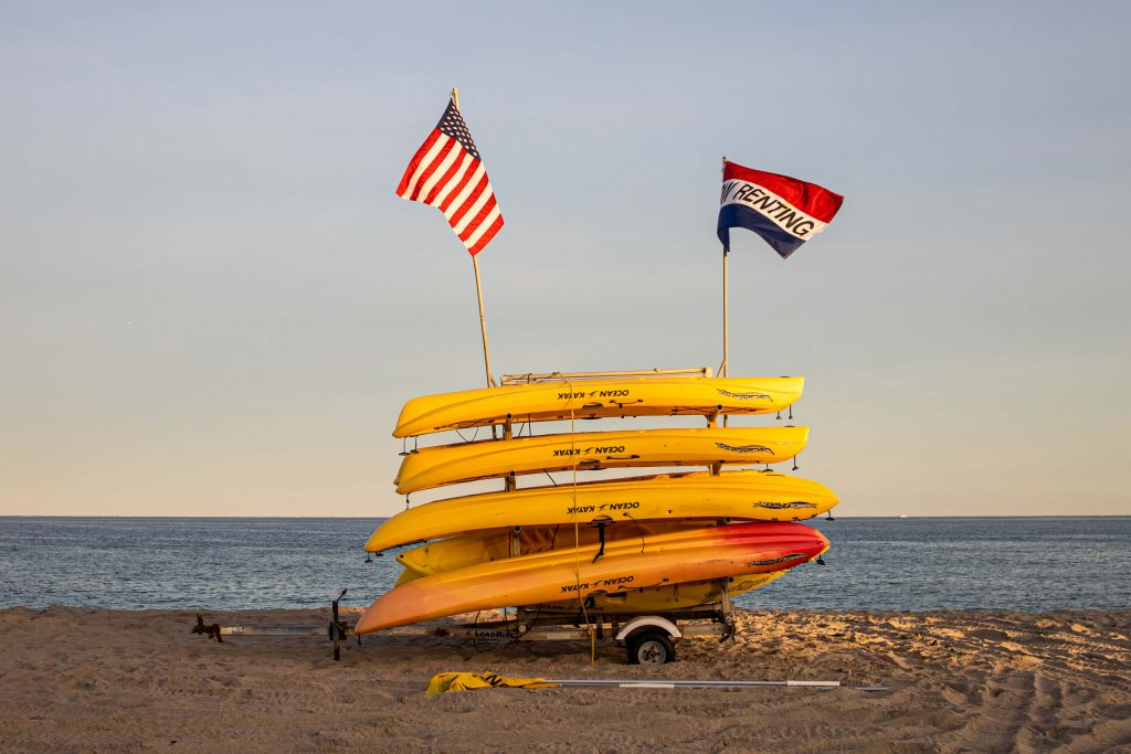 watersports set up on delray beach