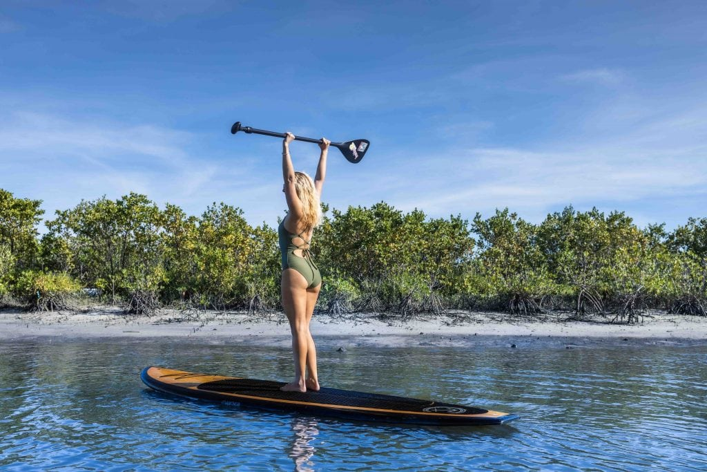 paddle boarding with visit palm beach