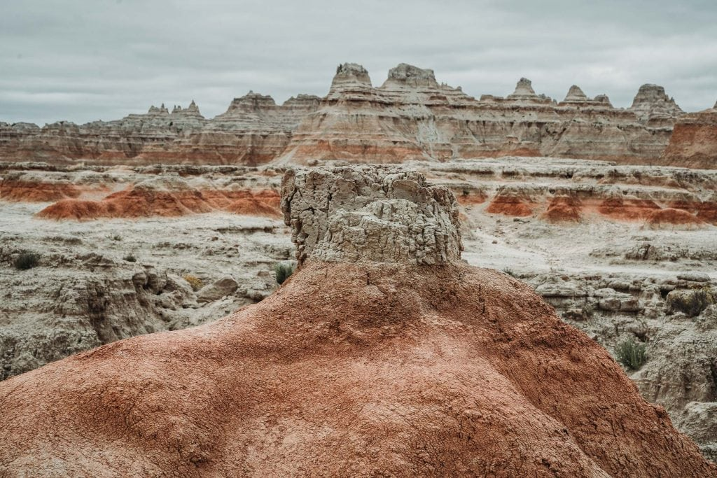 A look onto the Door Trail on the Badlands Hiking Trails